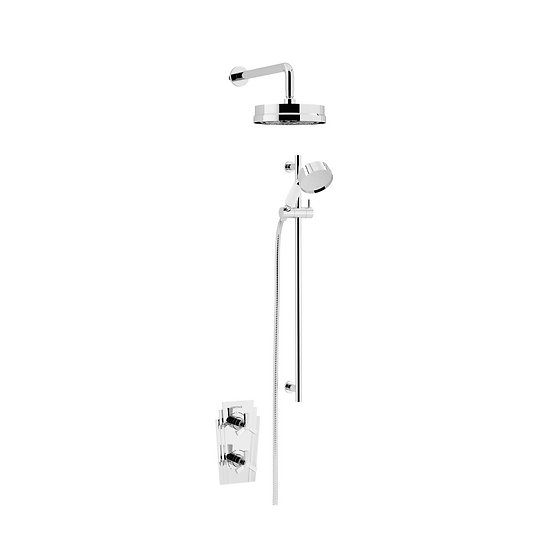 Gracechurch Recessed Shower with Fixed Head and Flexible Riser Kit | Heritage