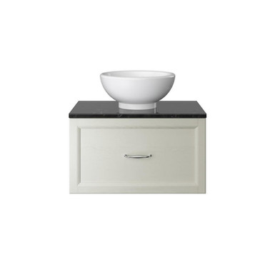 Caversham Wall Hung Vanity Unit Single Drawer with Worktop | Heritage