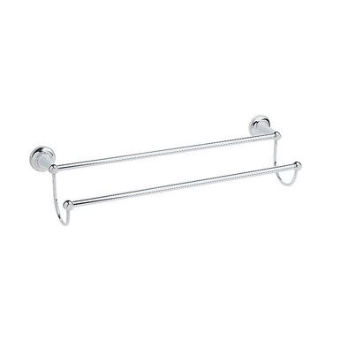 Clifton Double Towel Rail   Heritage