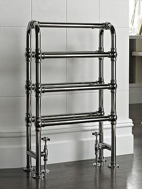The Arcadia Floor Mounted Towel Rail Brass Construction   Vogue UK