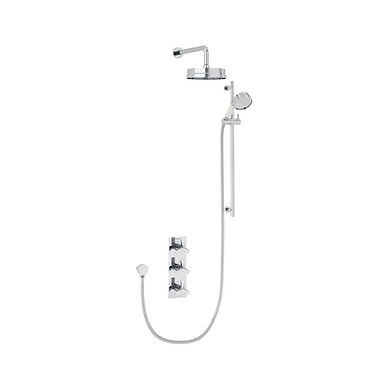 Hemsby Recessed  Shower Valve with Dual Head Kit | Heritage