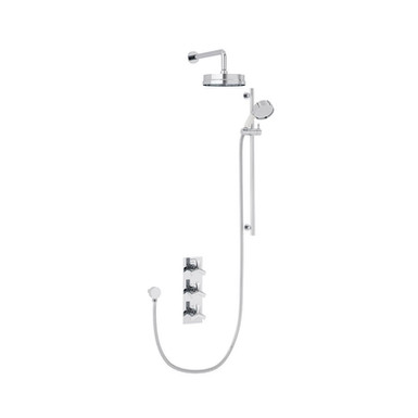Hemsby Recessed Shower Valve with Fixed Head Kit and Flexible Riser Kit