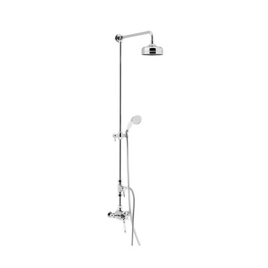 Dawlish Exposed Shower with Fixed Riser kit & Diverter to Handset| Heritage