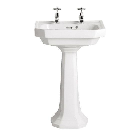 Granley Deco Medium Basin & Pedestal | Heritage