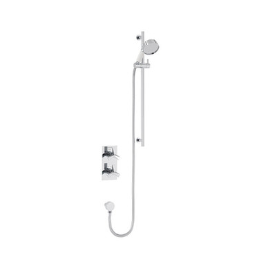 Hemsby Recessed Shower Valve with Flexible Riser Kit   Heritage