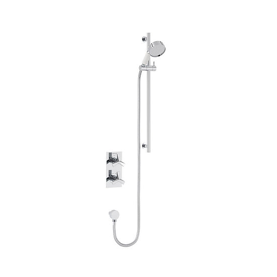 Hemsby Recessed Shower Valve with Flexible Riser Kit | Heritage