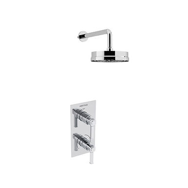 Somersby Recessed Shower Valve with Deluxe Fixed Head Kit | Heritage