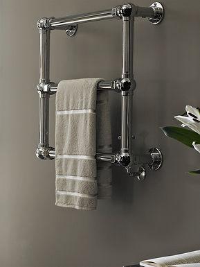 The Grandeur Wall Mounted Towel Rail Brass Construction | Vogue UK