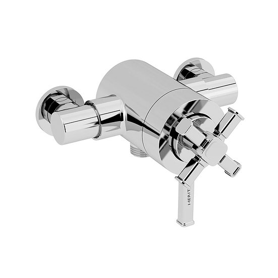 Sombersby Exposed Shower Valve with Bottom Outlet Connection | Heritage