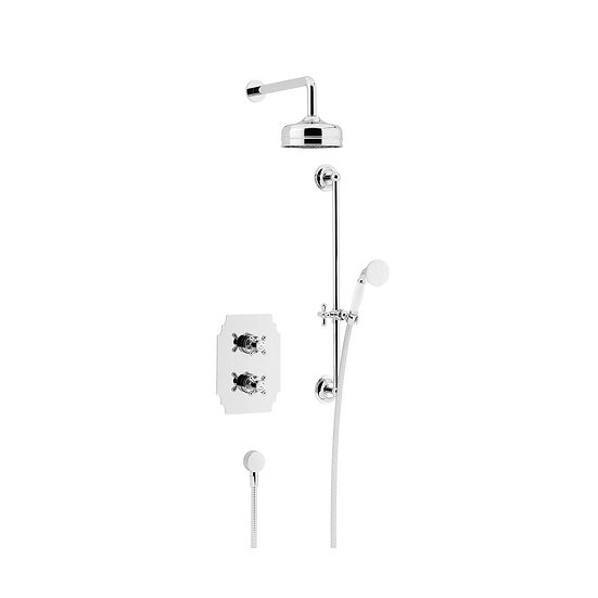 Hartlebury Recessed Shower with Fixed Head Kit and Flexible Riser Kit | Heritage