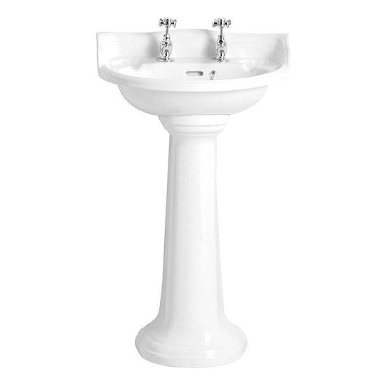 Dorchester Cloakroom Basin & Pedestal   Heritage