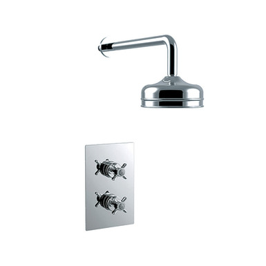 Dawlish Recessed Shower with Premium Fixed Head Kit | Heritage