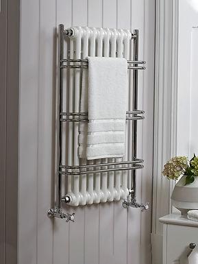 The Nexus Grand III Wall Mounted Towel Rail Brass Construction   Vogue UK
