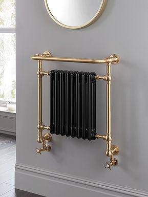 The Regency Wall Mounted Brass Construction Towel Rail | Vogue UK