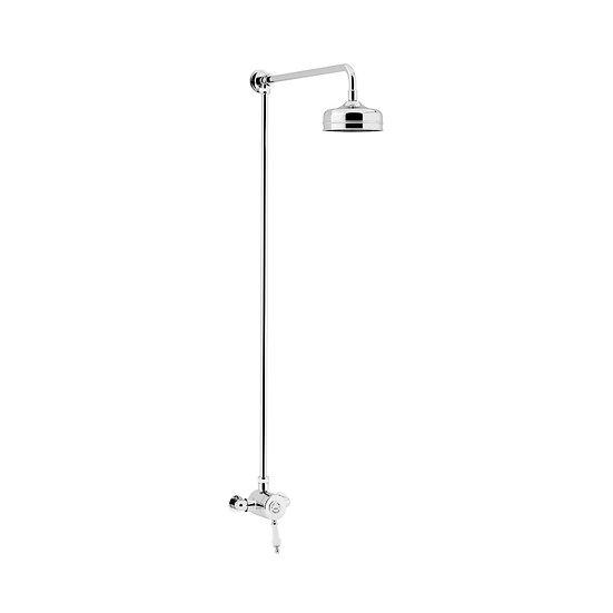 Glastonbury Exposed Shower with Fixed Riser Kit | Heritage