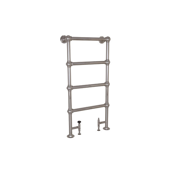 Large Grandis Nickel Towel Warmer | Hurlingham