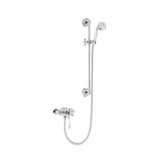 Hartlebury Exposed Shower with Flexible Riser Kit | Heritage