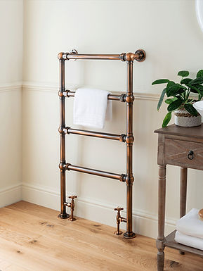 The Grandeur Floor & Wall Mounted Towel Rail Brass Construction   Vogue UK