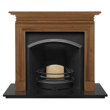 London Plate (Wide) Cast Iron Fireplace Insert   Carron