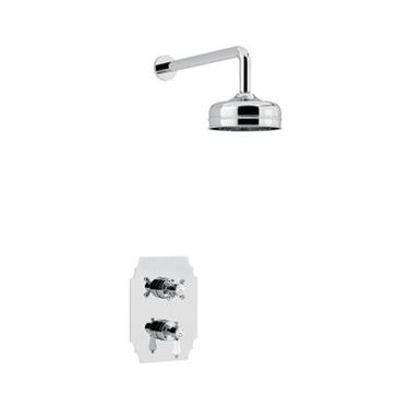 Glastonbury Recessed Shower with Premium Fixed Head Kit | Heritage