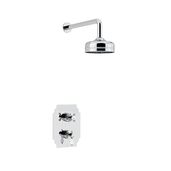 Glastonbury Recessed Shower with Premium Fixed Head Kit | Heritage