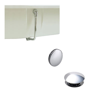 Exposed Push Button Bath Waste and Overflow Kit   Heritage