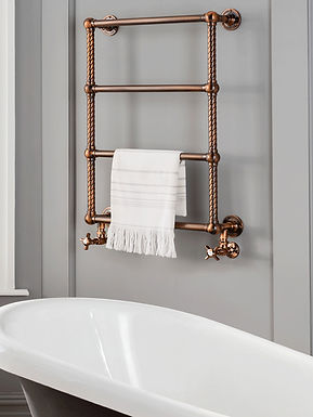 The Colonnade IV Wall Mounted Towel Rail Brass Construction | Vogue UK