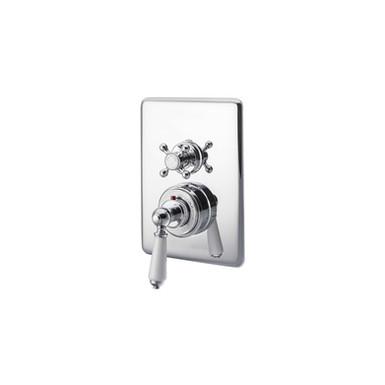 Chrome Concealed Dual Control Thermostatic Shower Valve | Hurlingham
