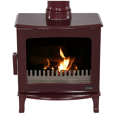 Carron ECO Revolution 5kW Cast Iron Stove | Red Enamel