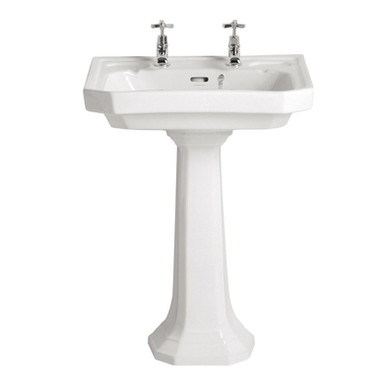 Granley Deco Standard Basin & Pedestal | Heritage