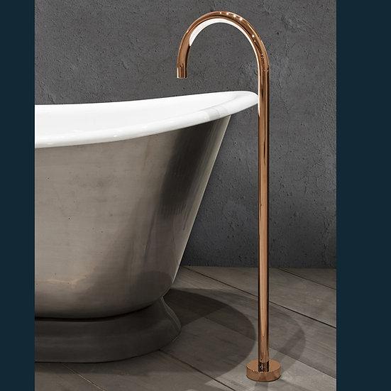 Copper Floor Mounted Bath Spout   Hurlingham