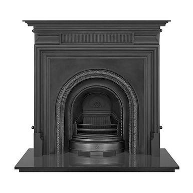 Scotia Cast Iron Fireplace Insert   Black   Carron