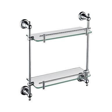 Holborn Double Glass Shelf | Heritage