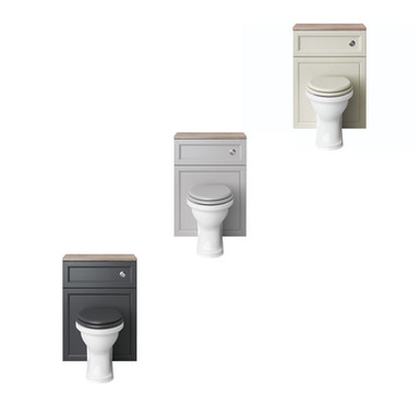 Claverton Back to Wall WC & Concealed Cistern with Caversham Unit |