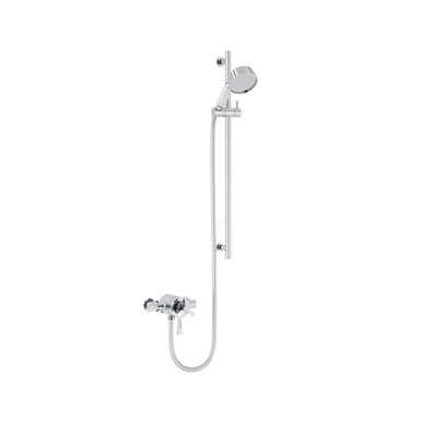 Gracechurch Exposed Shower with Flexible Riser Kit   Heritage