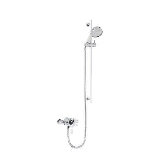 Gracechurch Exposed Shower with Flexible Riser Kit | Heritage