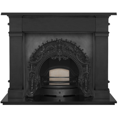 Rococo Cast Iron Fireplace Insert | Black | Carron