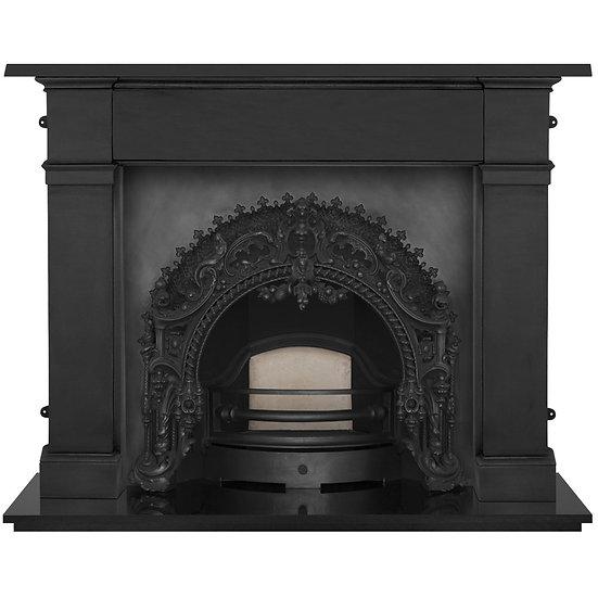 Rococo Cast Iron Fireplace Insert | Black | Carron