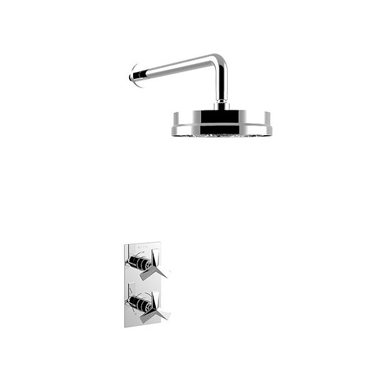 Hemsby Recessed Shower Valve with Fixed Head Kit | Heritage