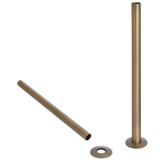 300mm Pipe Cover Sleeves Shrouds | Natural Brass | Castrads