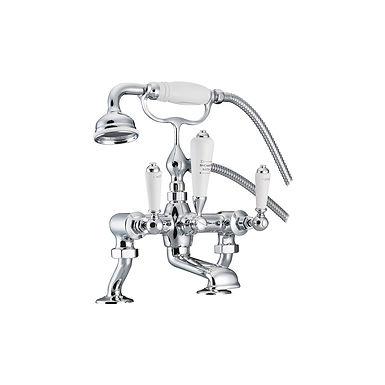 Bath Mixer Taps with Cranked Legs | Hurlingham