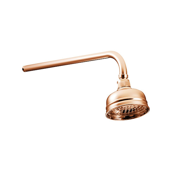 Copper Shower Rose 5"