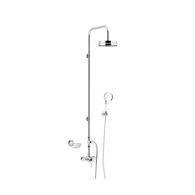 Gracechurch Exposed Shower Valve with Dual Heads   Heritage