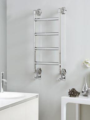 The Art Moderne Wall Mounted Towel Rail Brass Construction | Vogue UK