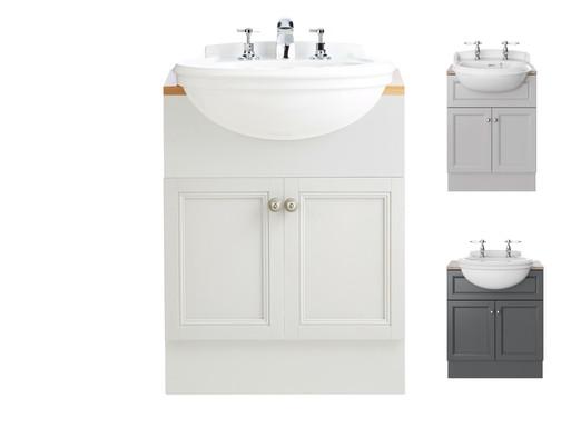 Claverton Semi-Recessed Basin & Caversham Vanity Unit | Heritage