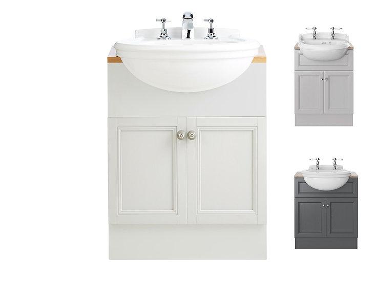 Claverton semi-recessed Basin & Caversham Vanity Unit   Heritage