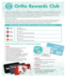 Ortho Rewards Club Flyer