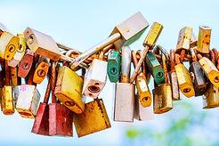 A lot of love padlocks on the bridge..jp