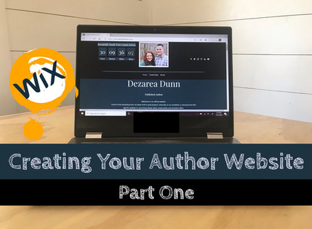 Vlog Episode 9: Creating your Author Website Part One