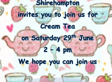join us for Cream Tea